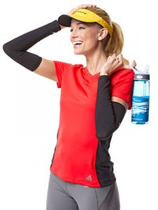 portable water filter - woman with water